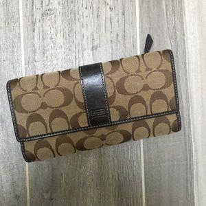 EUC Classic Coach tri-fold wallet